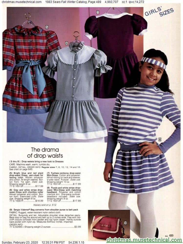 1983 Sears Fall Winter Catalog, Page 489 - Christm