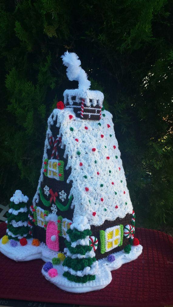 GINGERBREAD HOUSE OOAK Handmade crochet by emcrafts on Etsy ...