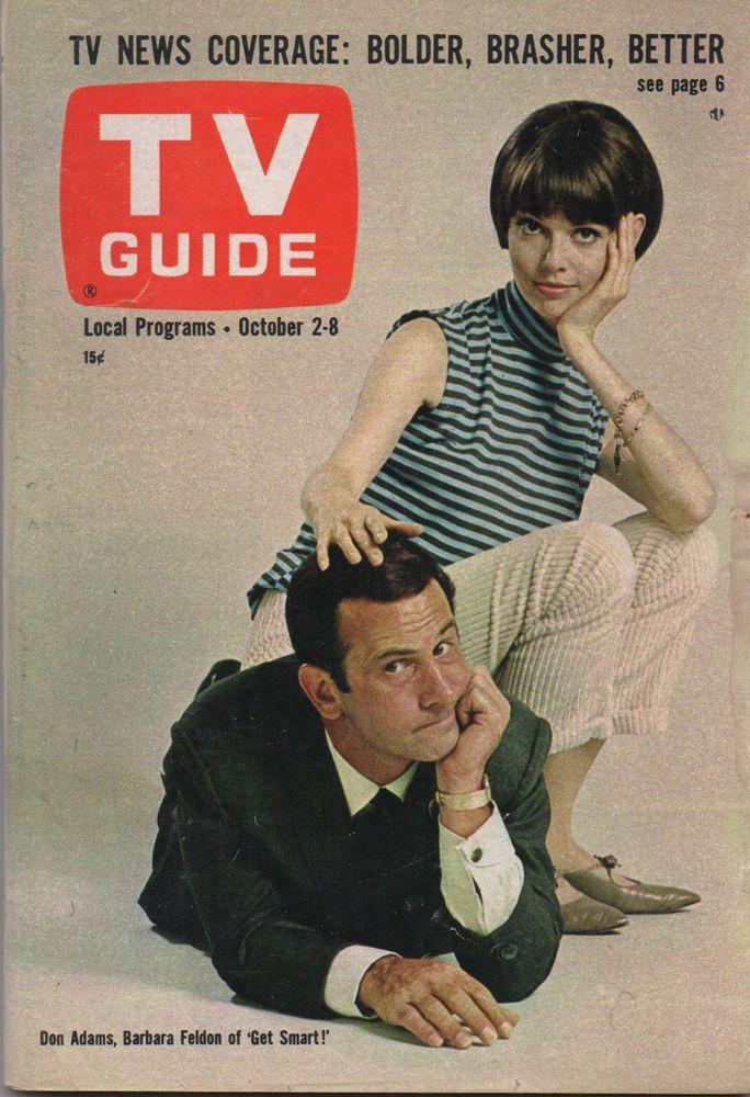 1965 TV Guide Don Adams Barbara Feldon Of Get Smart NO LABEL