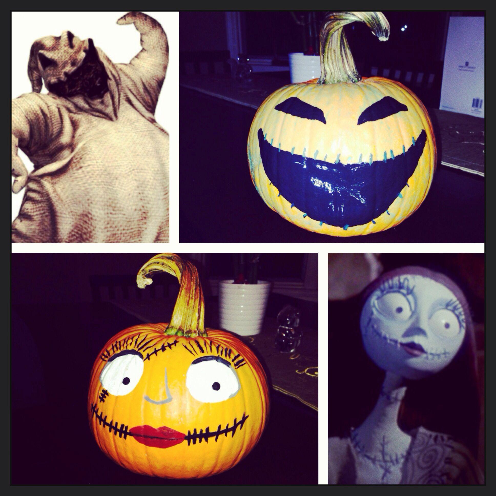 nightmare before Christmas pumpkin painting, Sally ...