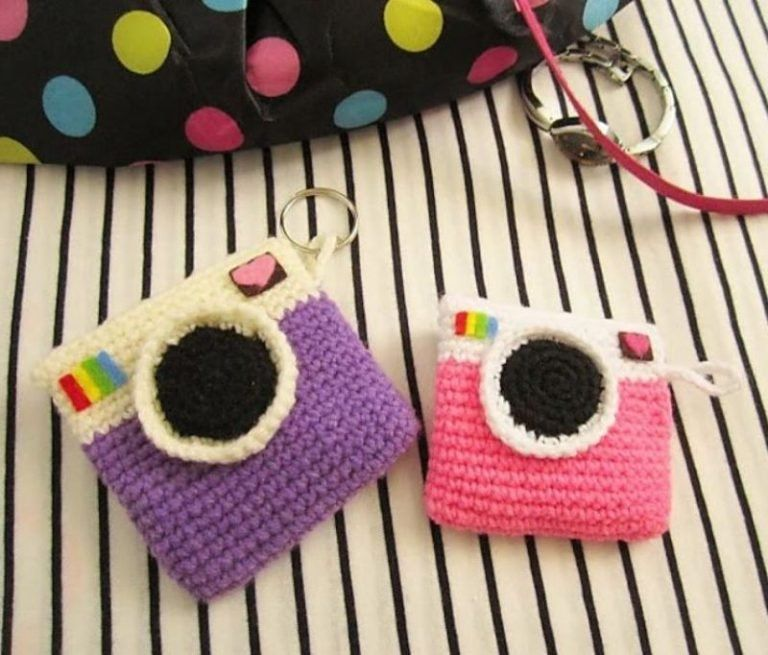Crochet Camera Purses Free Patterns