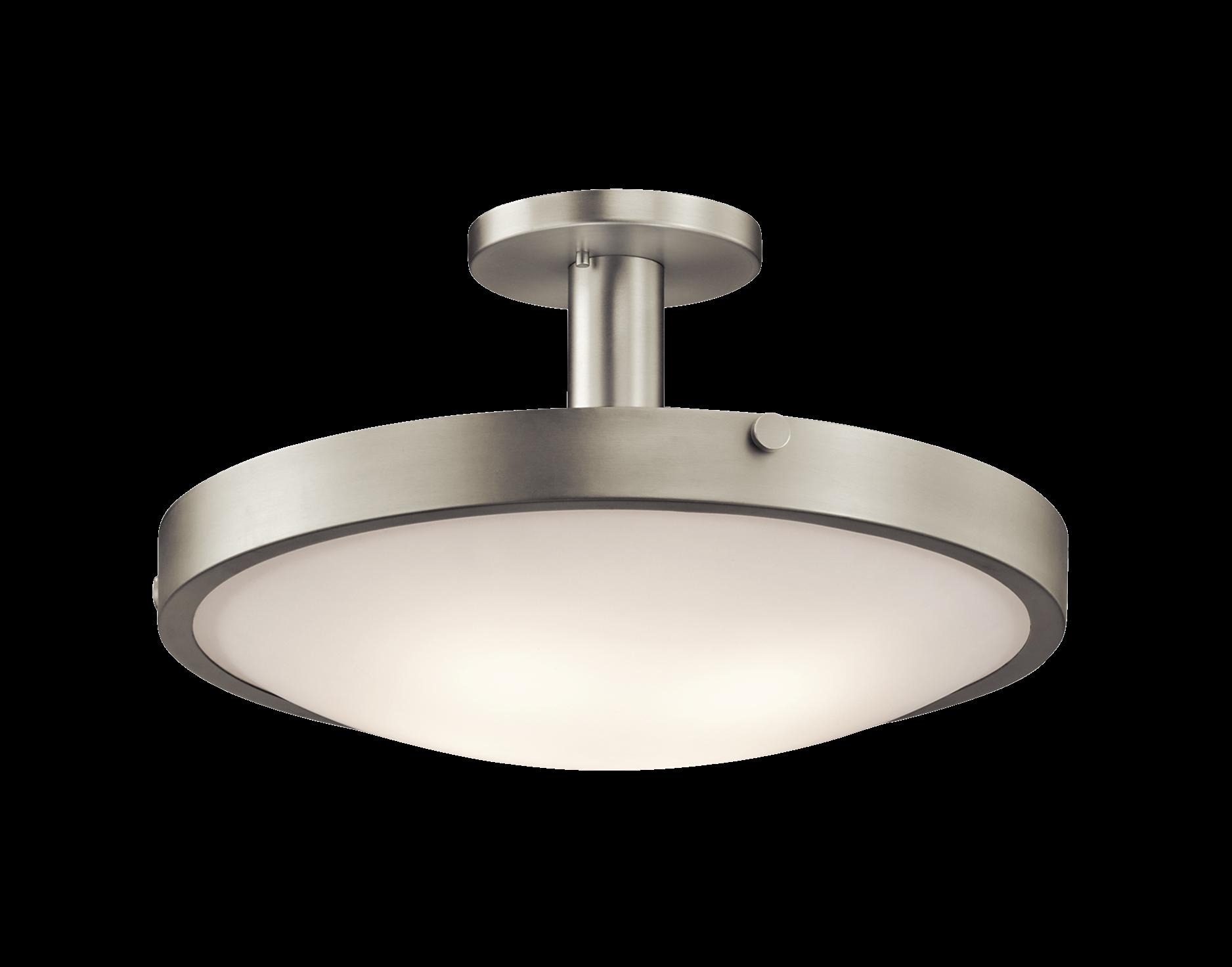 Semi flush 4lt ni lamps and lighting pinterest ceiling fans semi flush 4lt ni landscape lightingkitchen lightingbrushed nickelhallways aloadofball Images