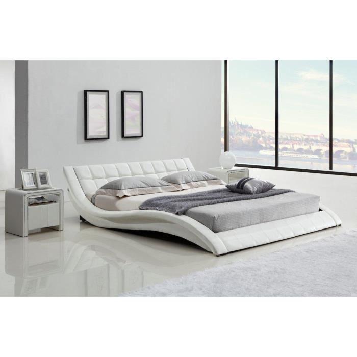 Structure De Lit Rafaelo 180 X 200 Achat Vente Structure De Lit Cdiscount Modern Bedroom Furniture Bed Design Modern Platform Bed