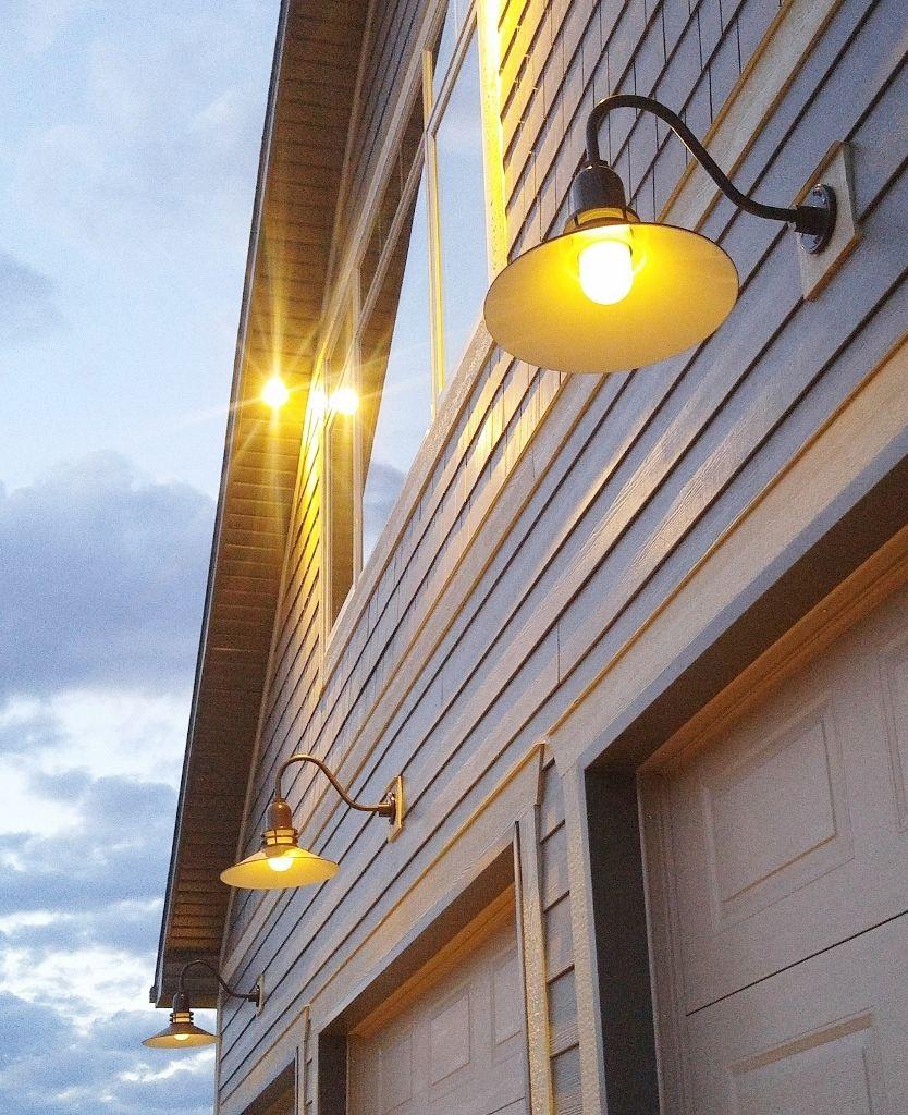 Gooseneck Barn Lights Blend Vintage And Modern For New Garage