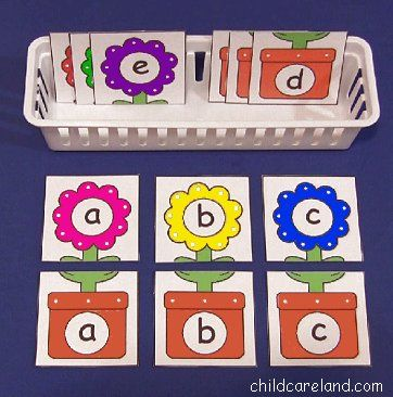 Deutsch, Puzzle, kleine und große Buchstaben, zuordnen, Blumen im ...