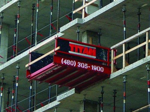 Titan Outrigger Platform Hoisting Safety Concrete