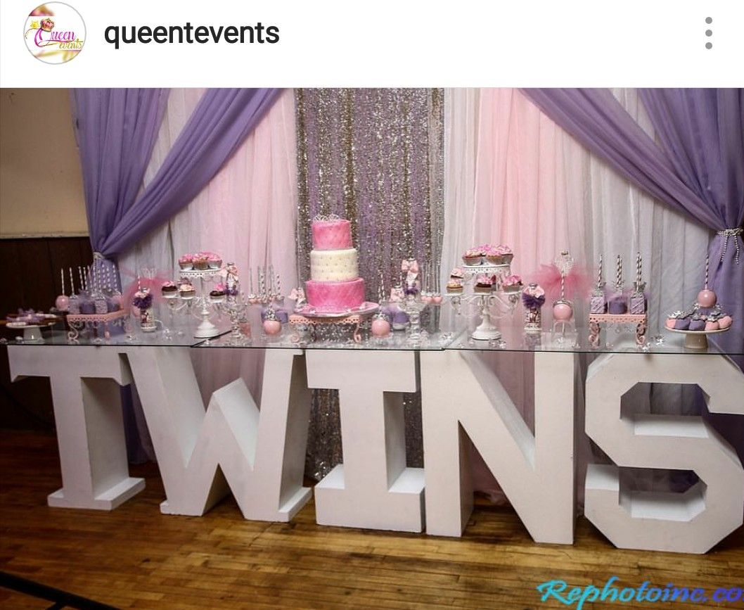 Twins Baby Shower Dessert Table Decor