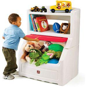 Step2 Lift Hide 38 H Kids Plastic Storage Bin And Toy Organizer Red Walmart Com Kids Storage Bins Bookcase Storage Storage Chest