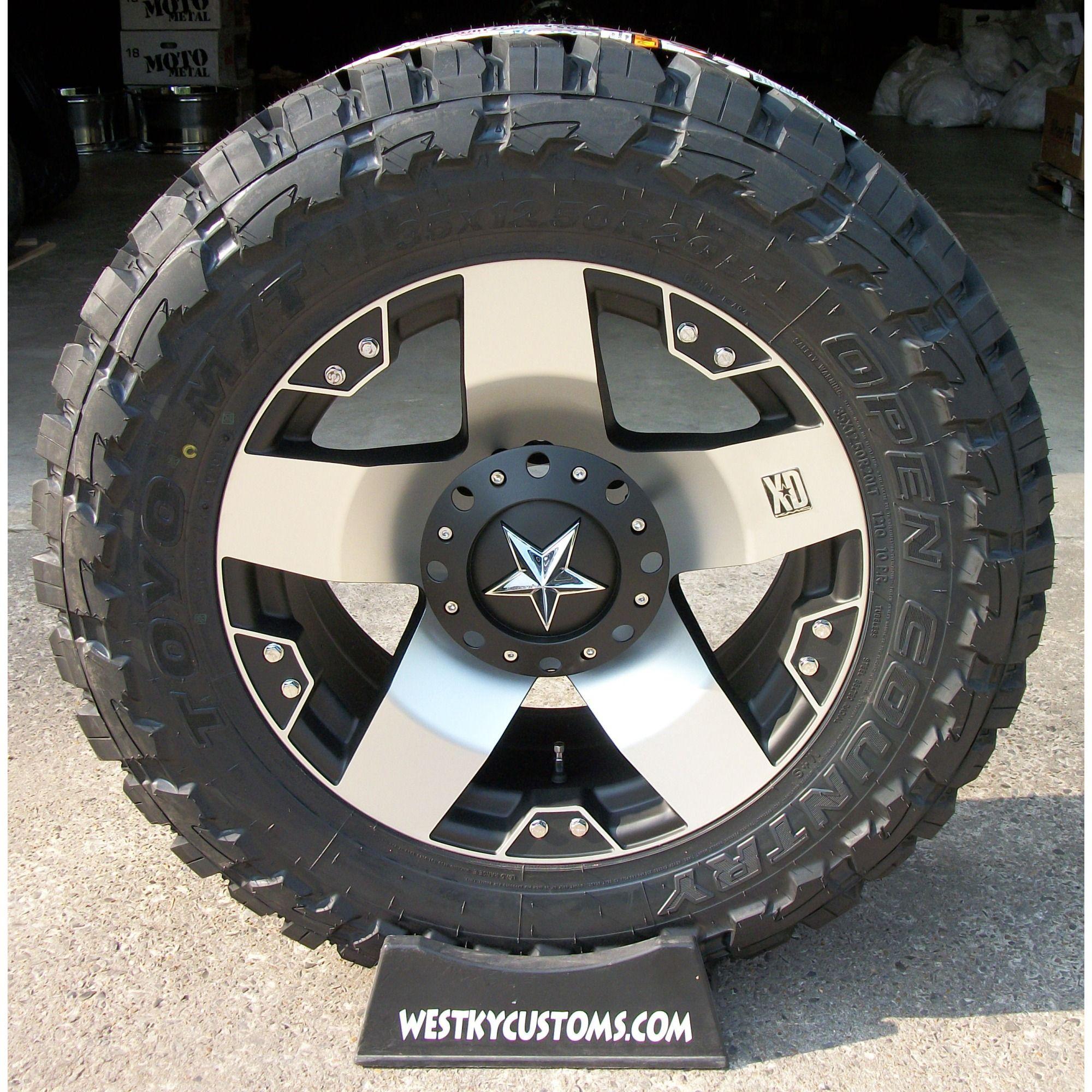 20x10 Machined XD Rockstar Wheels w Toyo MT 35x12 5x20 Tires