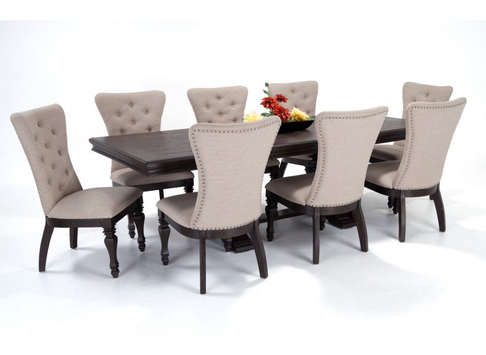 Riverdale 9 Piece Dining Set With Upholstered Chairs Riverdale Dining Room Collections Dining Room Bo Dining Room Sets Furniture Cheap Living Room Sets