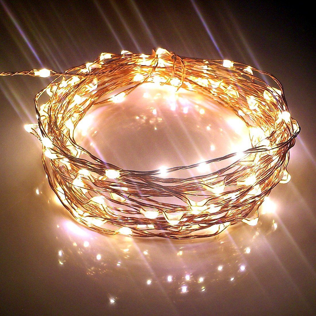 starry string lights w 120 warm white leds on
