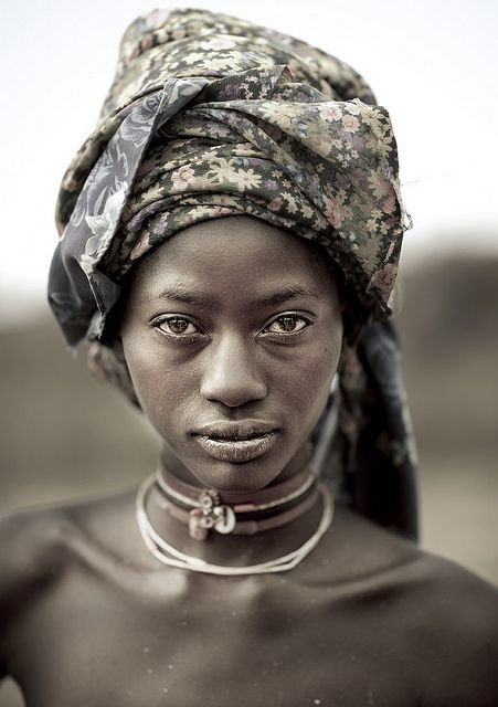 "Mucubal tribe beauty - Angola_Eric Lafforgue_  ""A Mucabal girl without the giant headwear!"""