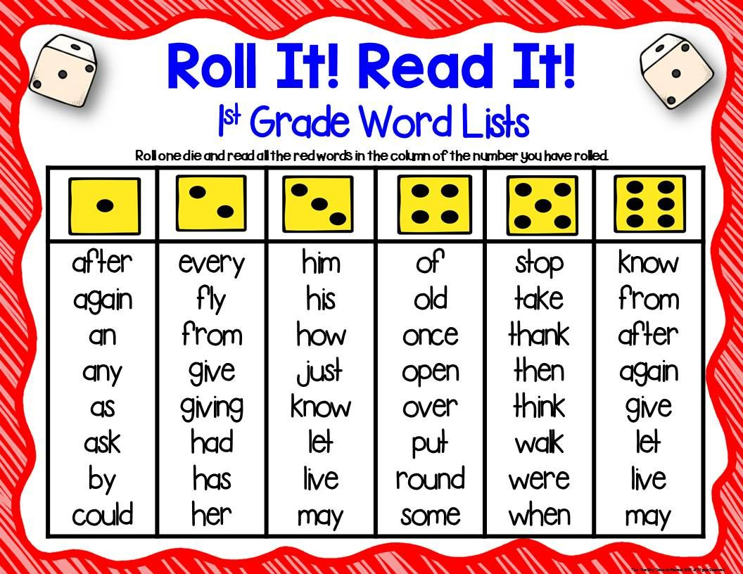 First Grade Sight Word Practice Three Dice Games