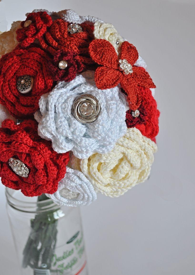 Crochet flower bouquets crochet stuff pinterest crochet crochet flower bouquets izmirmasajfo