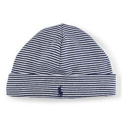 Ralph Lauren Baby White Beanie Hat