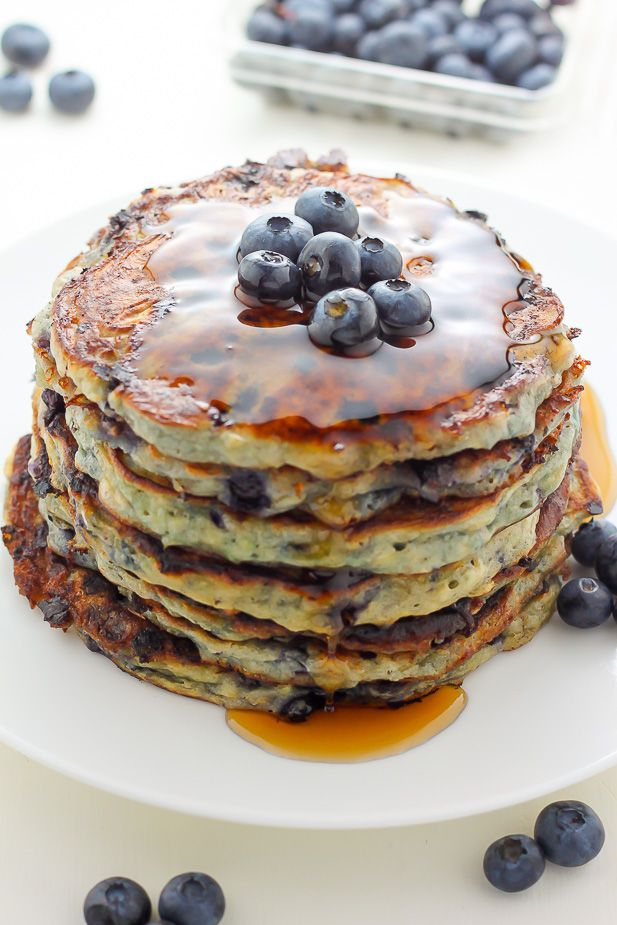 Cottage Cheese Blueberry Pancakes