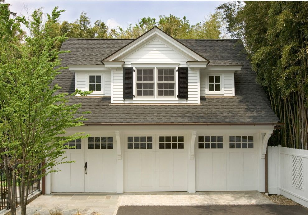 3 Car Garage Traditional Garage And Shed Philadelphia By Lasley Brahaney Architecture Cons Above Garage Apartment Carriage House Garage Garage Design