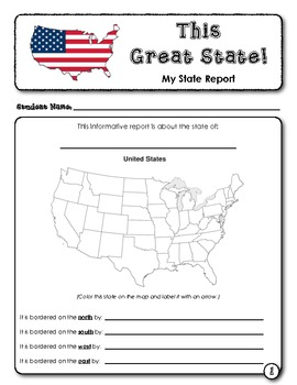 student report this great state my tpt store pinterest social