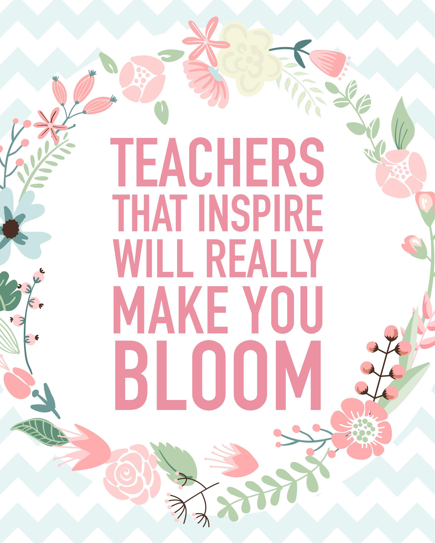 Teacher appreciation printable blog hop appreciation Flowers that make you happy