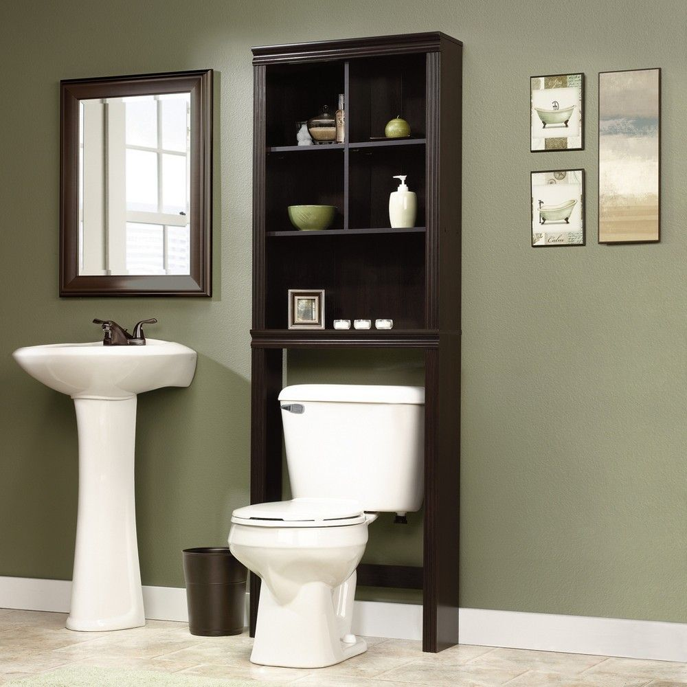 over the toilet etagere espresso brown sauder in 2019 products rh pinterest com