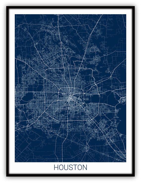 Houston Map Houston Texas City Map Art Of Houston City Map
