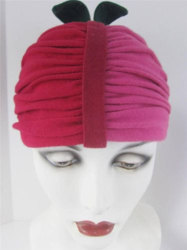 68ddaaeea2d Best  BigApple hat in  NYC. 1940 s Miss Carnegie  HattieCarnegie original  label jersey turban pink red hat with little green stem on top.