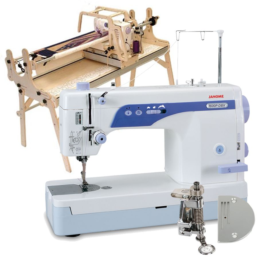 Little Gracie II Quilting Frame, Janome 1600P-DBX Sewing Machine ...