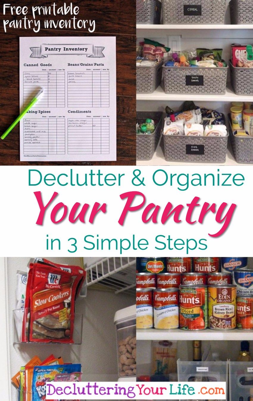Declutter your pantry organize your pantry in simple steps
