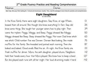 2nd Grade Fluency & Comprehension Set- Houghton Mifflin ...