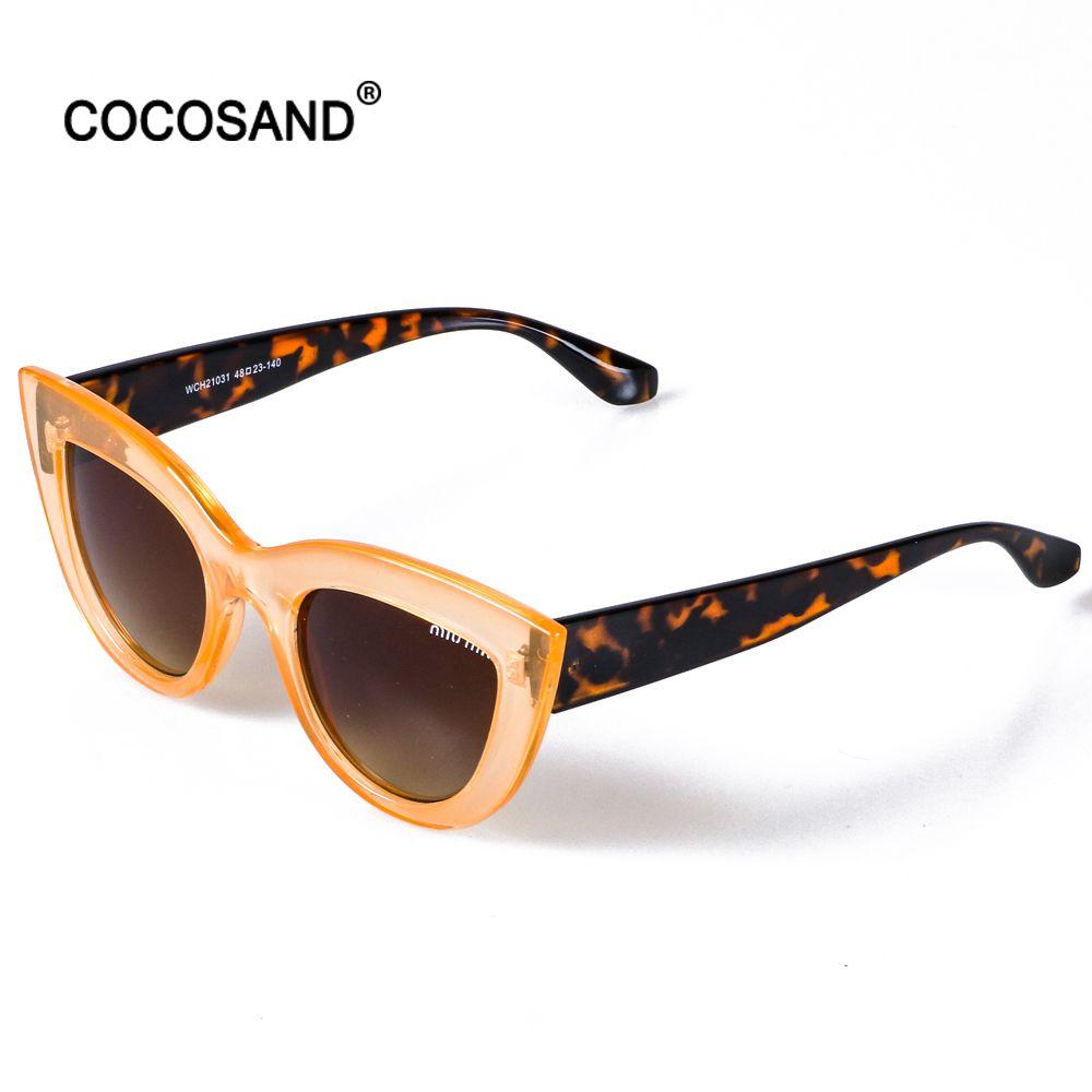2017new fashion cat eye sunglasses donne ovale occhiali da sole del progettista di marca gradiente Transparent vintage oculos