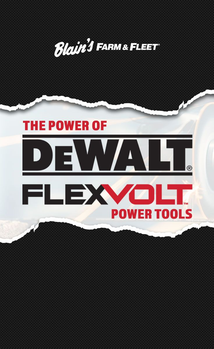 The Power of DEWALT FLEXVOLT® Power Tools Tools, Power