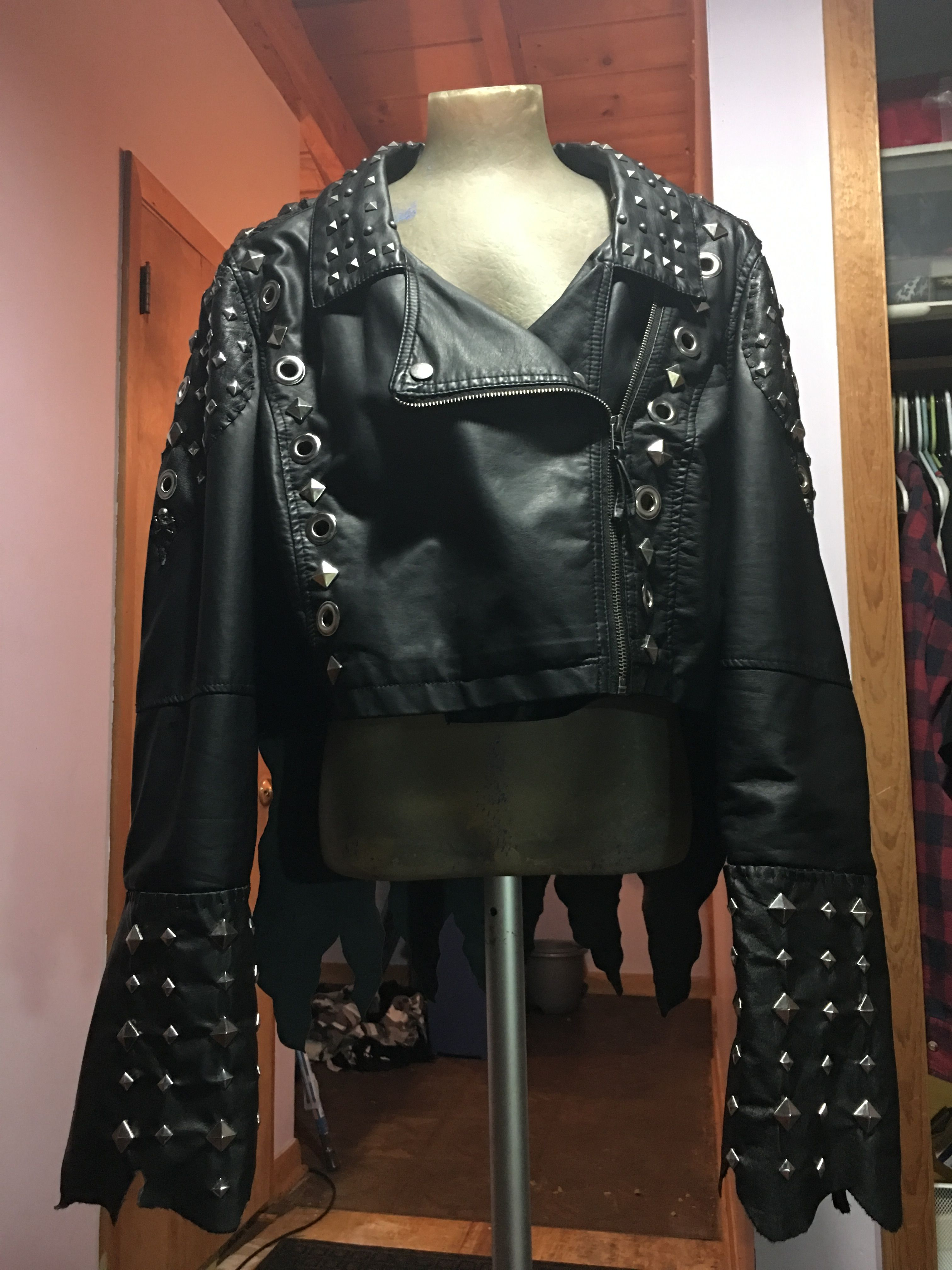 Custom Battle Vest Rocker Spiked Viking Jacket By Mourningstar Clothing Clothes Outfits Fashion [ 4032 x 3024 Pixel ]