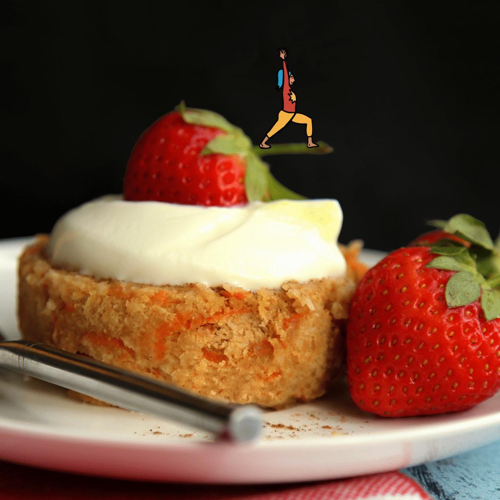 Carrot Cake Protein Mug Cake #proteinmugcakes