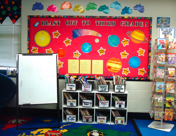 Clutter-Free Classroom: Space Themed Classrooms