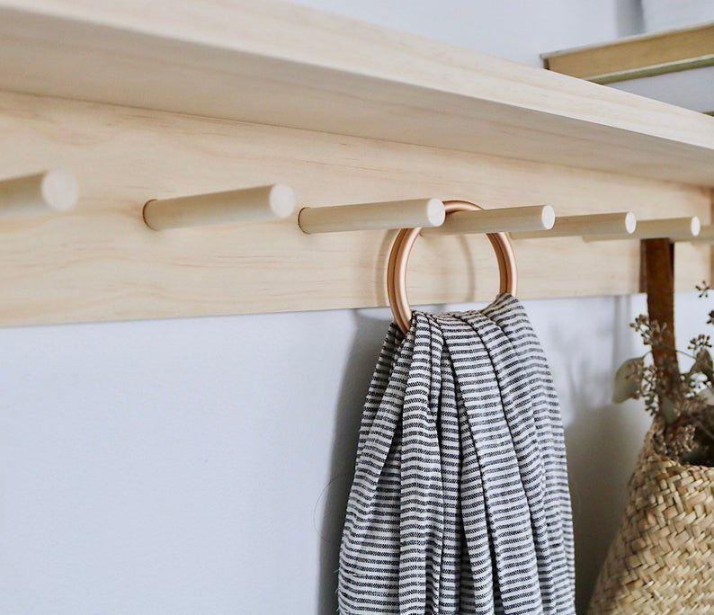 Victorian kitchen utencil rack vintage shaker peg coat hook bathroom
