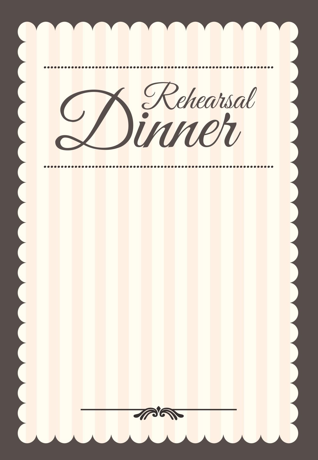 Stamped Rehearsal Dinner  Free Printable Rehearsal Dinner Party
