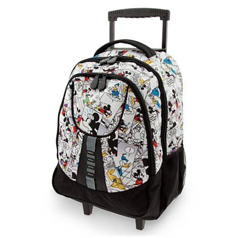 Mickey Mouse Comic Strip Rolling Backpack | Backpacks & Lunch ...