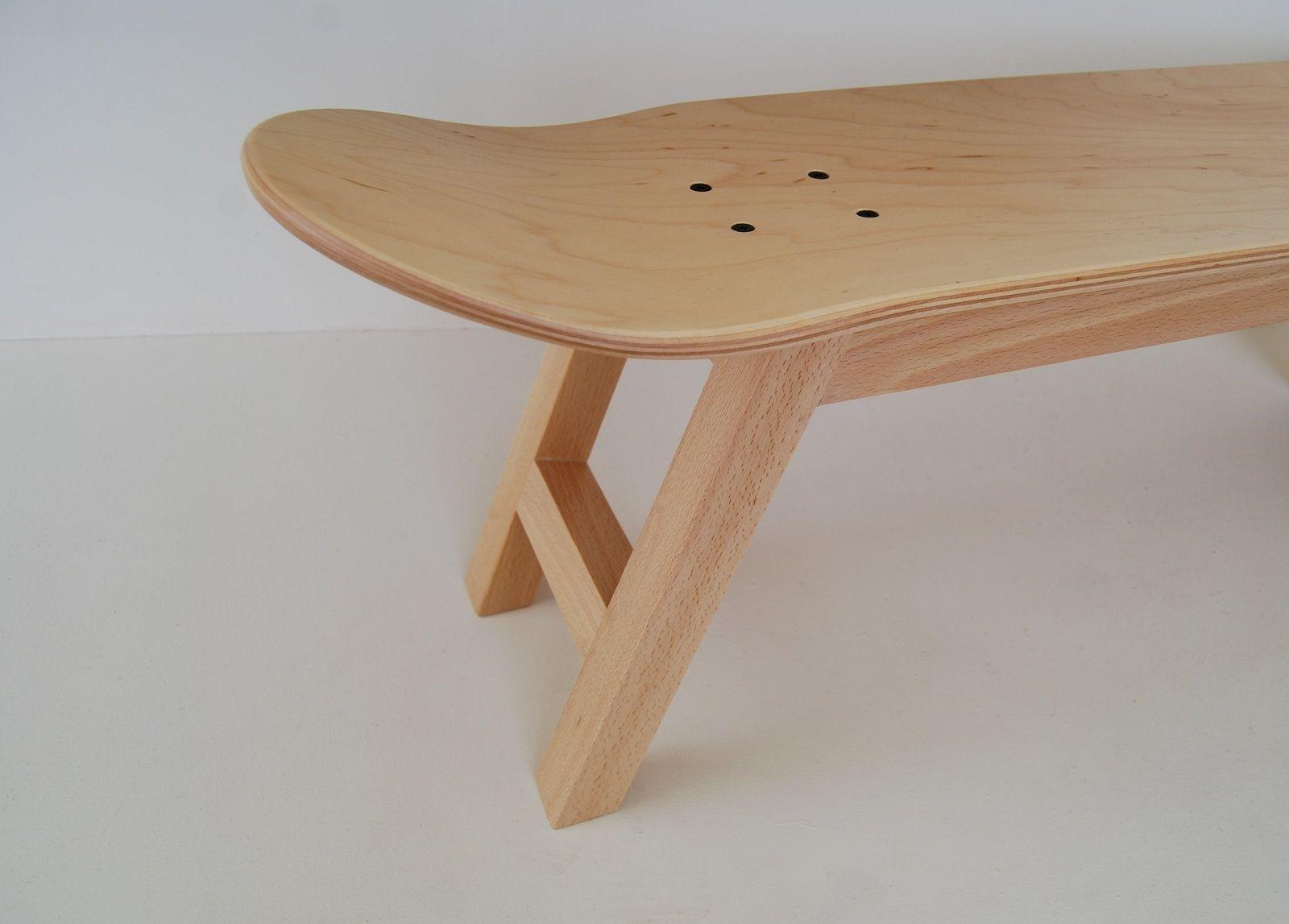 Skate Nollie Flip stool, natural wood color - Skate-Home   Skateboard Furniture & Design