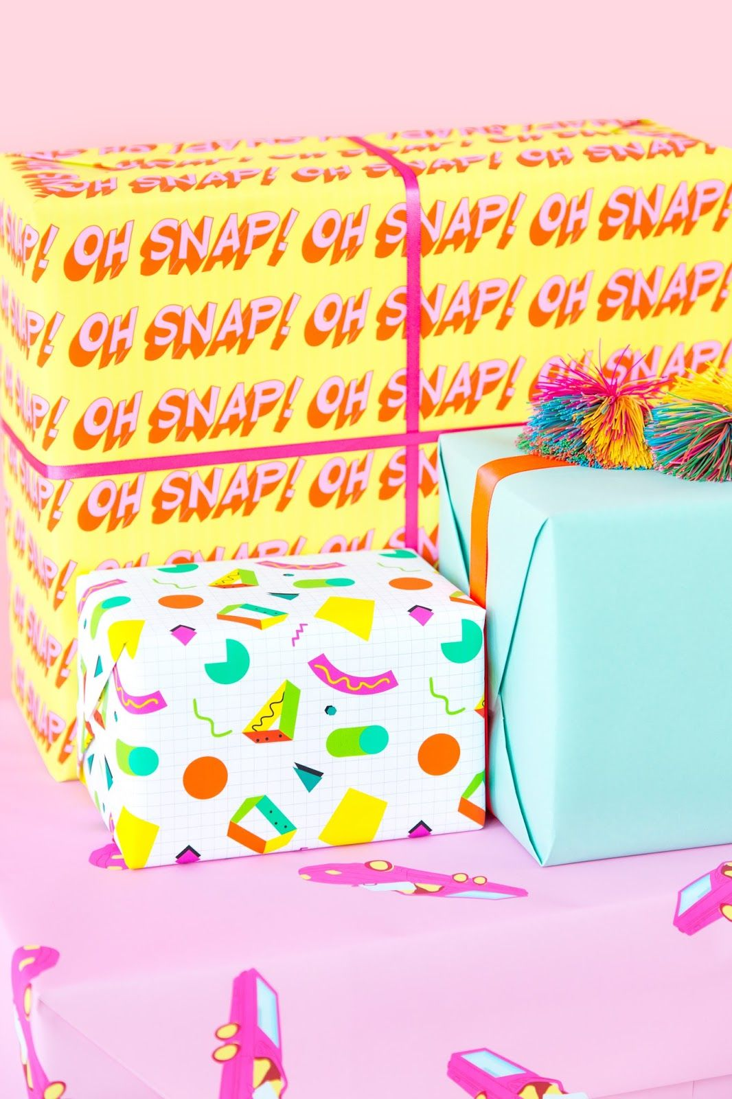 90s Wrapping Paper Printables