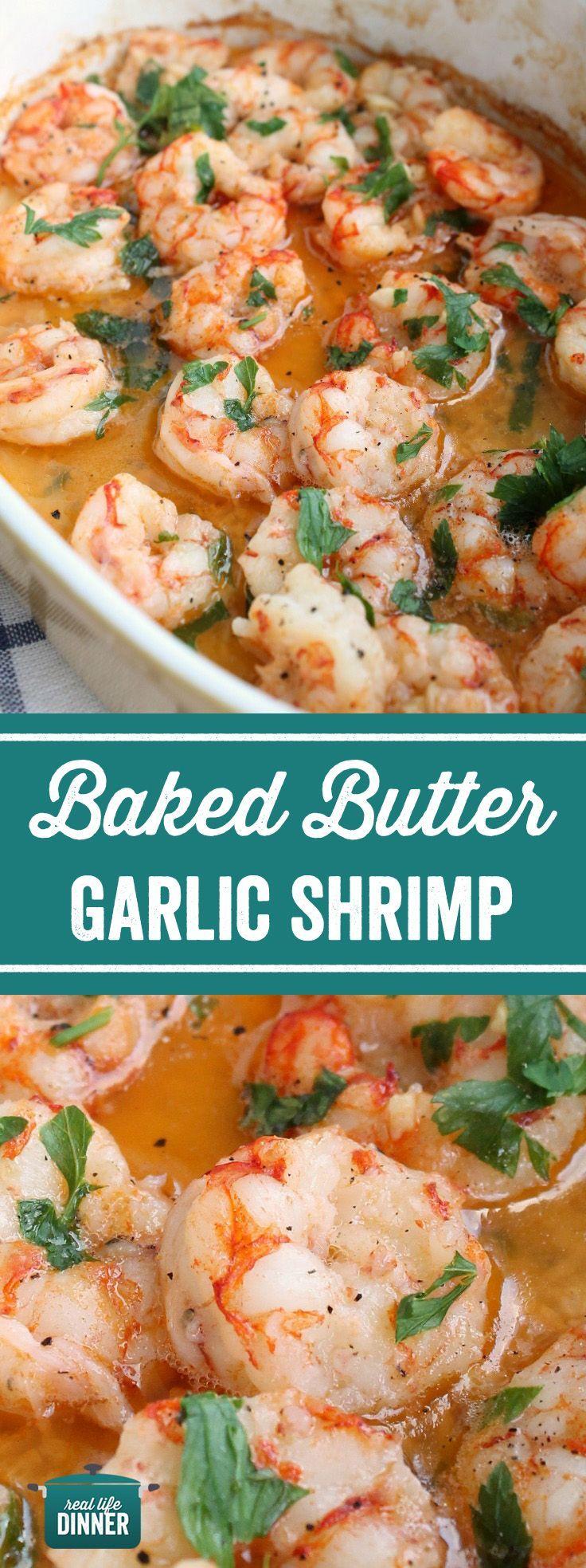 Photo of Baked Butter Garlic Shrimp – Real Life Dinner