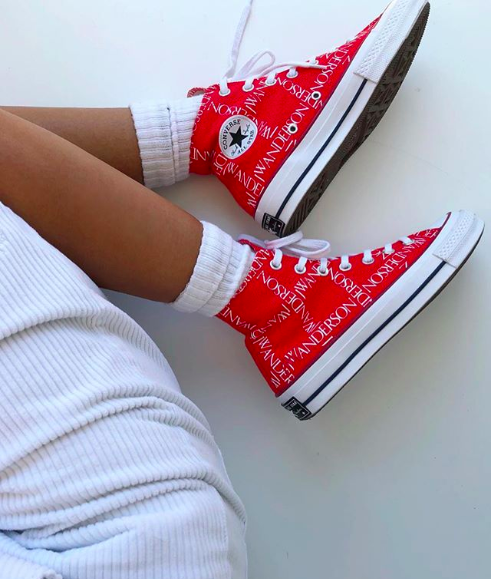 a6f08594f5ab CONVERSE X JW ANDERSON CHUCK 70 GRID HIGH TOP - RED