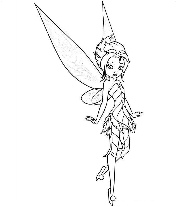 30 Tinkerbell Coloring Pages Free Coloring Pages Free