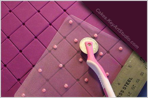 Diy Impression Mat Fondant Diamond Pattern Quilt Marker Decorating Tutorial Cake Decorating Tutorials Cake Decorating Techniques