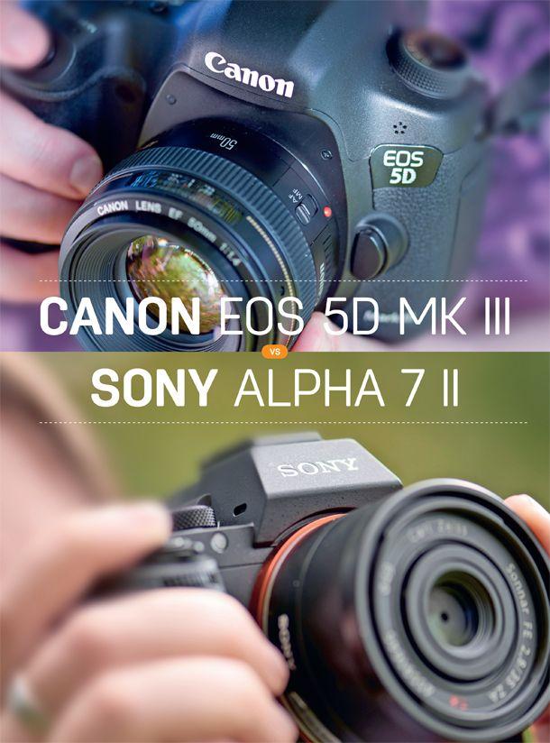 Canon Eos 5d Mark Iii Vs Sony A7 Ii Digital Camera Travel Camera Canon Eos
