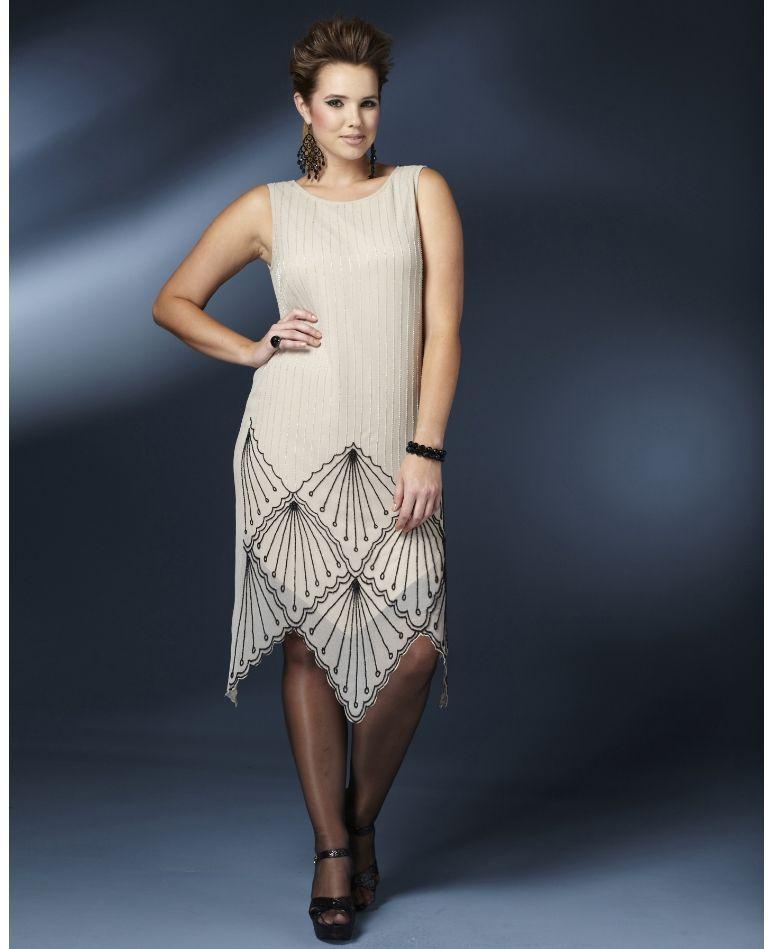 Beaded Flapper Dress Sooo Pretty Festive Plus Size Dress