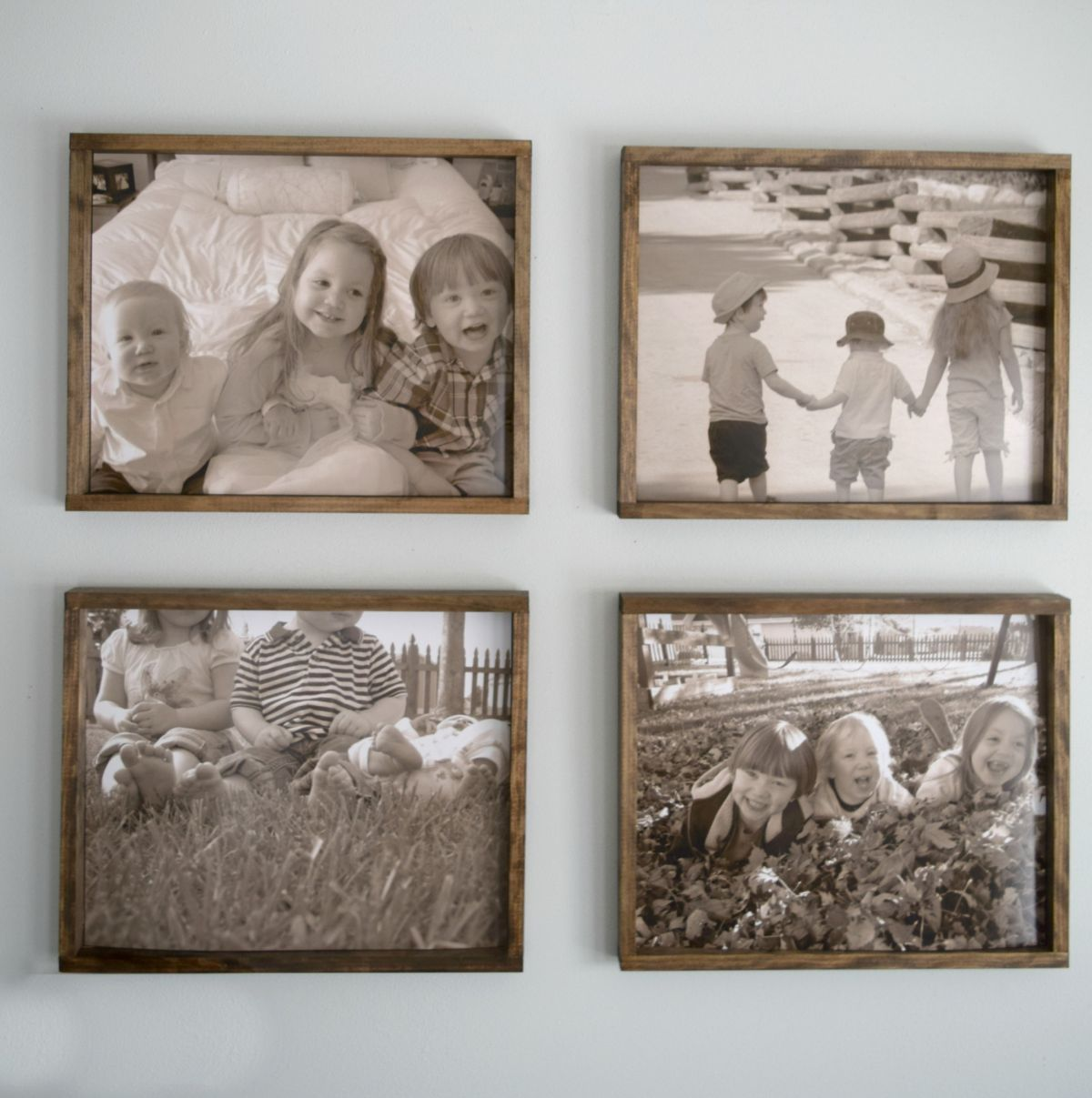 Diy rustic wood frame making pictures into memories rustic large rustic wood frame diy jeuxipadfo Images