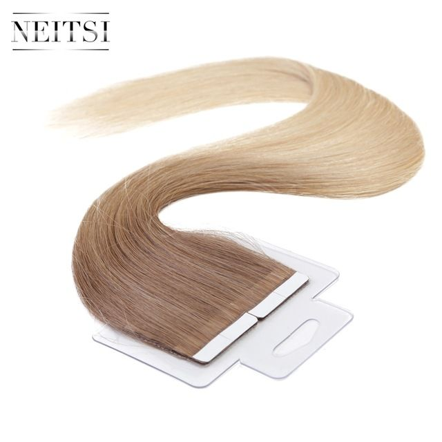 Neitsi 5a Ombre Virgin Remy Hair Skin Weft Hair Us Tape In Human