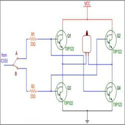 Wireless DC Motor Speed Control using IR and IC555 Project with