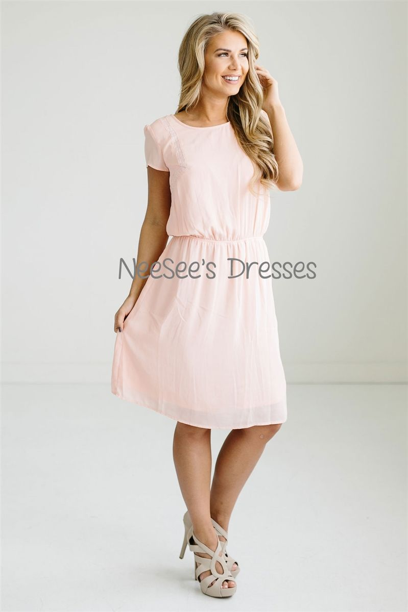 Perfect Sundress in Pale Pink | Pale pink, Modest bridesmaid dresses ...