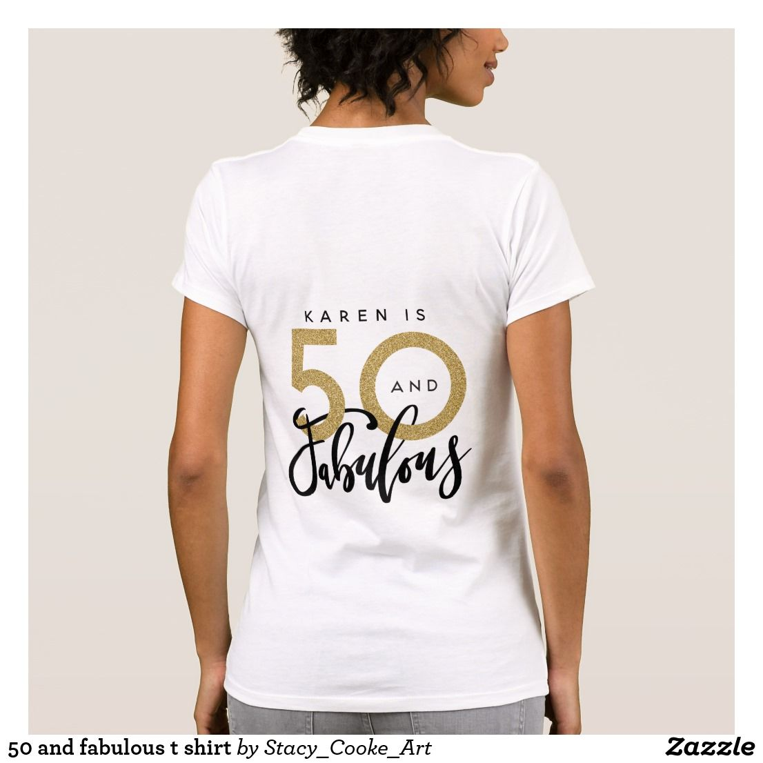 50 and fabulous t shirt 50th birthday
